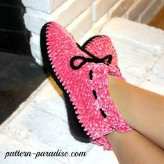 Free Crochet Pattern ~ Velvety Soft Slippers by Pattern Paradise​