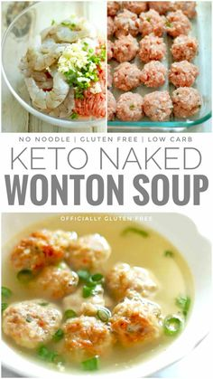 dinner recipes for family main dishes Gluten Free & Keto Naked Wonton Soup Ketogenic Recipes, Diet Recipes, Healthy Recipes, Wonton Soup Recipes, Good Soup Recipes, Health Soup Recipes, Ketogenic Diet, Crab Cake Recipes, Carb Free Recipes