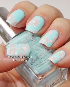 Marias Nail Art and Polish Blog: Pastel floral nail art