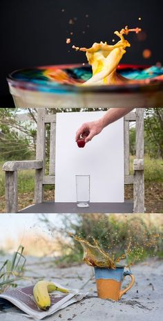 Learn a simple set-up for Splash Photography! Freeze time through the power of your camera, and have fun making a mess while doing it.