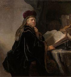 Rembrandt Harmensz van Rijn - Scholar at his Study - Google Art Project.jpg
