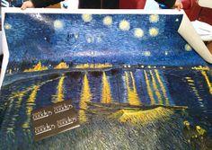 Notte stellata sul Rodano di Van Gogh http://www.tuttiquadri.it/van-gogh/notte-stellata-rodano.htm