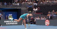 Tennis player loses match when her serve on match point hit her in the head
