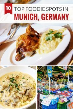 10 top destinations for foodies in Munich, Germany including restaurants, cafes, markets and shops (Top View Vacation Spots) Munich Germany, Bavaria Germany, Munich Food, Germany Travel, Travel Europe, European Travel, Travelling Europe, European Vacation, Best Places To Eat