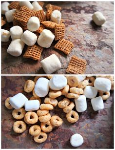 Dorm-friendly Breakfast: Cereal Bars! Spray inside of microwave safe bowl with cooking spray. Microwave 2 tbps mini marshmallows and 1 serving of cereal for 30 seconds. Mix marshmallows and cereal until well incorporated. Let sit 1-2 minutes. Separate into bars. Enjoy!
