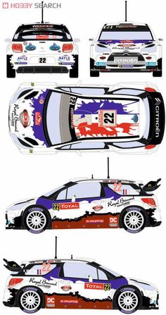 [Close] Citroen DS3 WRC 2013 Monte Carlo Rally Car No.22 (Decal) Item picture1