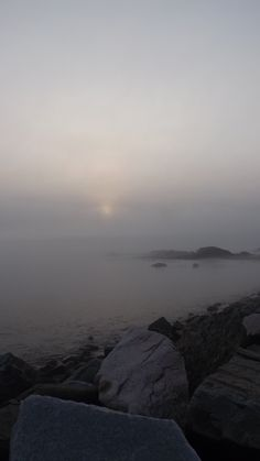 Foggy morning on Perkins Cove