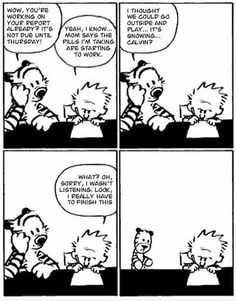 The last ever Calvin and Hobbes Comic