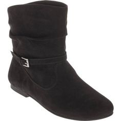 Faded Glory Women's Slouch Boot, Size: 8.5, Black