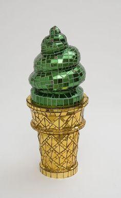 Gold Ice Cream Cone - Jean Wells Hamerslag