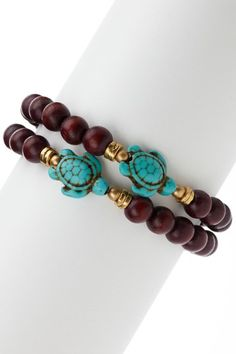 Turquoise Turtle Bracelet Set by Forces of Nature: Jewelry Event on @HauteLook