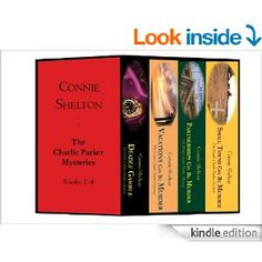 Books 1-4 of Connie Shelton's Charlie Parker mystery series...a kindle bundle for $7.99.  Charlie, a petite accountant and CPA for RJP Investigations, sometimes takes on cases that her brother (and business partner) warns her against. Whether it's her big heart or a nagging feeling, she has trouble saying no. If anybody can stir up enough trouble to uncover the truth, it's Charlie Parker.