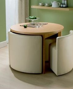 Saving Space Dining Table Chairs The Next Design Would Be Perfect For A Minimalistic Kitchen