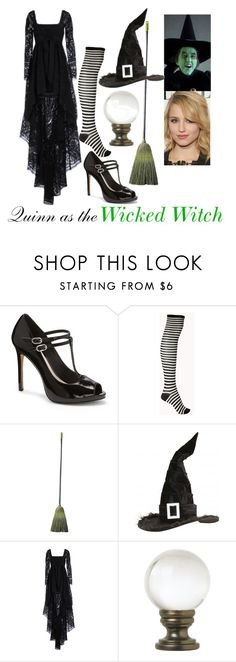 Quinn as the Wicked Witch by samevans17 on Polyvore featuring Emilio Pucci, Forever 21, Vince Camuto and Universal Lighting and Decor
