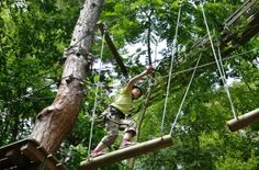 Want to know where the New Ropes Course Attraction is located in the Smokies? Click here!