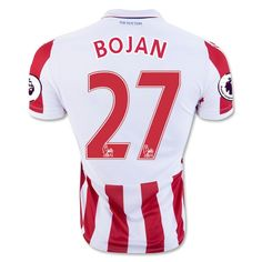 Stoke City Jersey 2016 17 Home Soccer Shirt Jersey  27 BOJAN Cheap Football  Shirts 721a3263d5f68