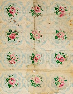 Pretty vintage floral fabric