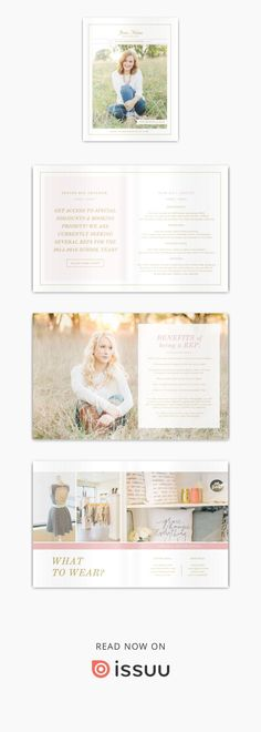 Senior magazine template for portrait photographers. Start attracting your ideal clients with our easy to edit Photoshop files. Images provided by Lux Senior Photography