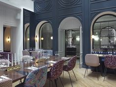 Recently reopened after an extensive restoration by designer Dorothée Meilichzon, Paris's Hôtel Bachaumont—which served as a clinic after its closure in the 1970s—now sports stylishly updated Art Deco–inspired interiors. | archdigest.com