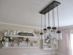 Junk Chic Cottage Ball Jar Chandelier From Lowes