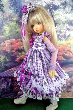 7 Piece Dress set fits Kaye Wiggs, Dollstown. MSD,BJD. LittleCharmersDollDesigns