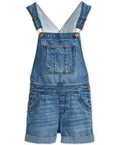 Tommy Hilfiger Girls' Denim Shortalls