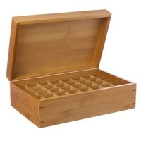 Essential Oils Bamboo Box Holder — Holds 40 vial & tall enough for 10ml roll-ons! www.abundantlife4U.com
