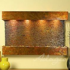 Sunrise Springs Indoor Wall Fountain with Slate Sunrise Spring, Indoor Wall Fountains, Sight & Sound, Slate, Projects To Try, Interior Design, Painting, Ss, Home Decor