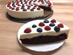 gyümölcsös túrótorta Cheesecake, Food, Cheesecakes, Essen, Meals, Yemek, Cherry Cheesecake Shooters, Eten