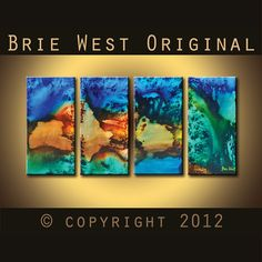 Original Art 48 x 24 BORA BORA Original Modern by BrieWest on Etsy