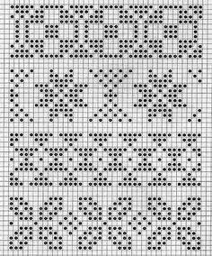pattern for knitting Tapestry Crochet Patterns, Fair Isle Knitting Patterns, Fair Isle Pattern, Knitting Charts, Knitting Stitches, Knitting Designs, Crochet Chart, Filet Crochet, Cross Stitch Borders