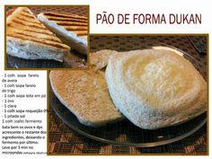 Dietas e Receitas: pão de Forma Dieta Dunkan
