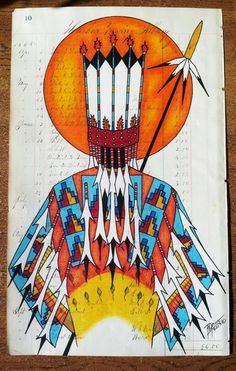 "Pepion Ledger, ""Facing the Sun"", 2013 kK Facing The Sun, Native American Artists, Beaded Bags, Famous Artists, Nativity, Folk Art, Beautiful Flowers, Native Americans, Abstract"