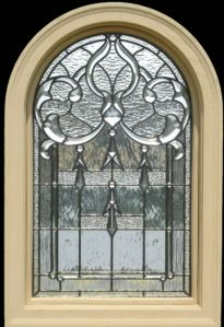 Love Love Love leaded glass windows