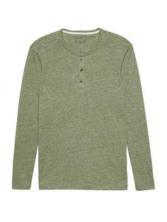 b41840304 Vintage Long-Sleeve Henley T-Shirt | Banana Republic Mens Tops, T Shirt