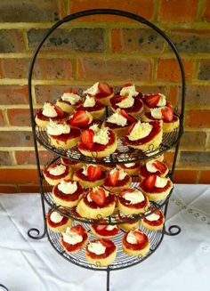 Jam and clotted cream scone tower.