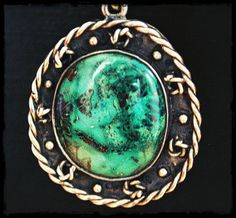 Native American Gypsy Turquoise Pendant Necklace by COSMIC NORBU
