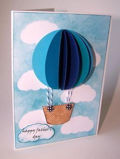5 tarjetas del Día del Padre ¡originales - Real Tutorial and Ideas Fathers Day Crafts, Happy Fathers Day, Art For Kids, Crafts For Kids, Tarjetas Diy, Karten Diy, Card Tags, Card Kit, Masculine Cards