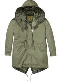 Shop the latest women's clothing and apparel from the official Maison Scotch webstore. Us Army Surplus, Fishtail Parka, Khaki Parka, Fashion Wear, Military Jacket, Going Out, Raincoat, Sleeves, Cotton