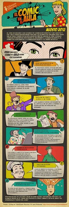 #Infographic 8 ideas para usar el cómic en el aula #SpanishTeachers #Comics