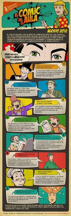 #Infographic 8 ideas para usar el cómic en el aula #SpanishTeachers #Comics