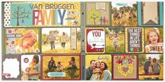 Family Spread (2-page) by Taylor VanBruggen #Scrapbooking, #PocketsandPages