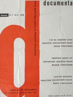Bild:   Unbekannter Künstler - Plakat der ersten documenta 1955