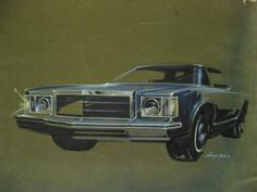 1973 Ford rendering (Gump) by Jason White on Canson paper.