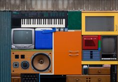 Michael Johansson created a real life Tetris by stacking everyday objects together perfectly