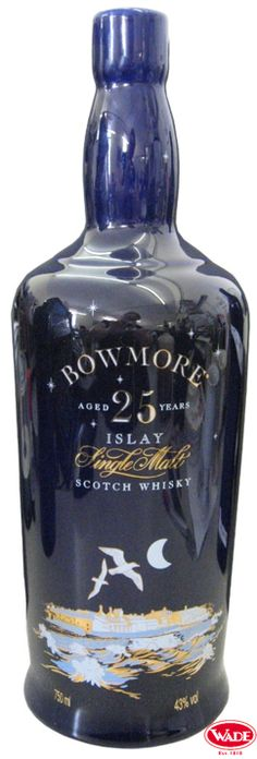 Bowmore Scotch Whisky Ceramic Decanter.