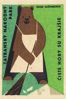 Russian Bear Matchbox