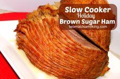 Crock Pot Ham with Brown Sugar Glaze