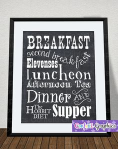 Hobbit diet.. my diet:).. really awesome Etsy listing at https://www.etsy.com/listing/200011291/the-hobbit-diet-lord-of-the-rings