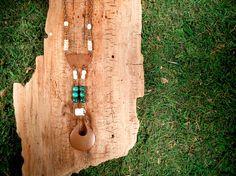 Copper Malachite Shell and Bone Voodoo Queen by mirabiliajewelry